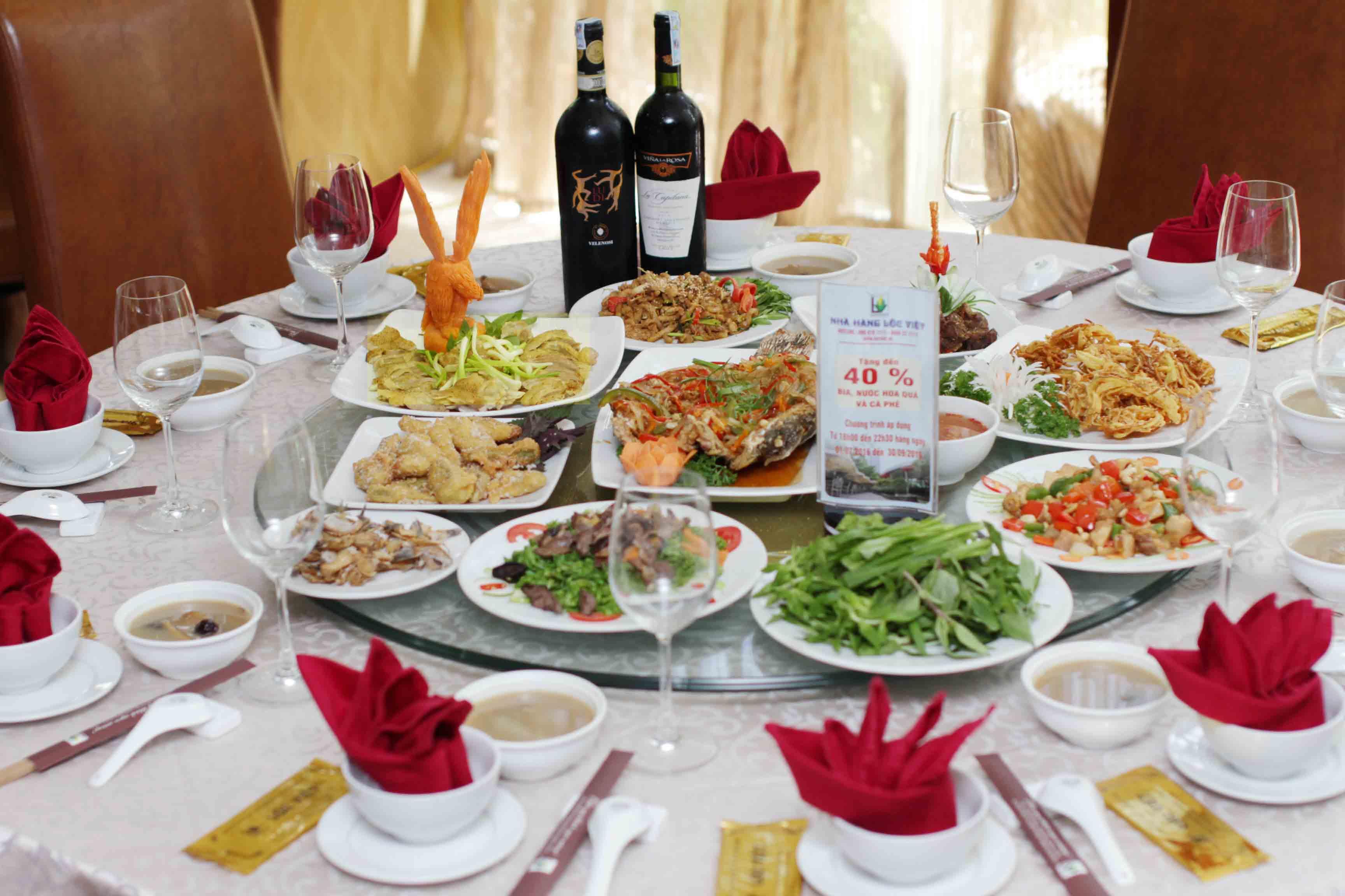 Lưu ý về thực đơn khi chọn nhà hàng tiệc cưới